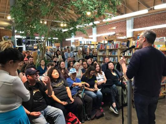 at my book launch at Skylight Books in Los Angeles