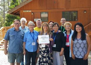 with my class at Idyllwild Arts Writers Week