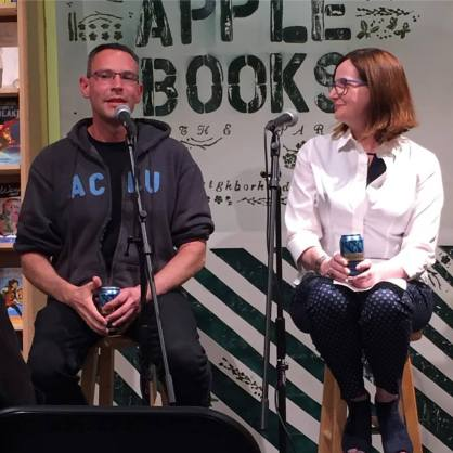 with Ethel Rohan at Green Apple Books in San Francisco